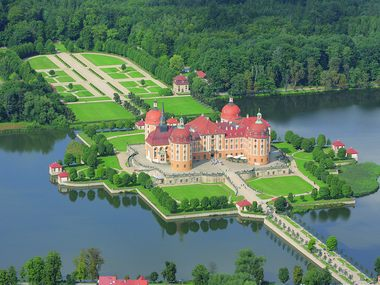 The Moritzburg Castle Park